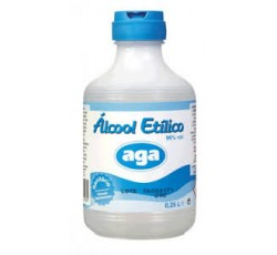 Álcool Puro 96º Álcool 250 mL Aga