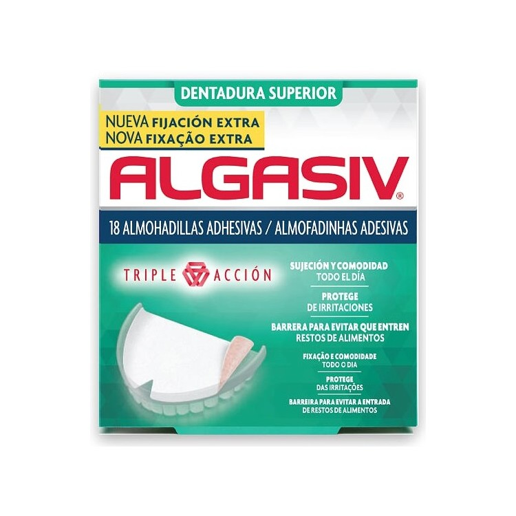 Algasiv Almofad Adesivas Dent Sup X18