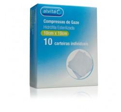 Alvita Compressas Ester. Gaze 10X10 Cm X10