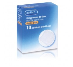 Alvita Compressas Ester. Gaze 5X5 Cm X10