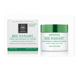 Apivita Bee Radiant Creme Defesa Anti-Idade Iluminador Textura Rica 50mL