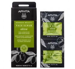 Apivita Express Beauty Creme Esfoliante Intensivo De Azeitona 2X8mL