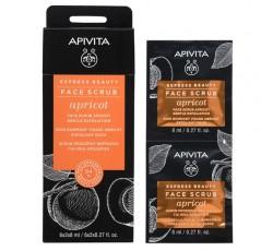 Apivita Express Beauty Creme Esfoliante Suave De Alperce 2X8mL