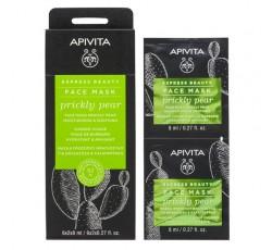 Apivita Express Beauty Máscara Hidratante & Calmante De Figo-Da-Índia 2X8mL