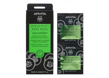 Apivita Express Beauty Máscara Hidratante Intensiva De Pepino 2X8mL