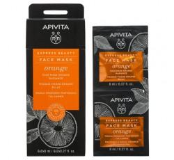 Apivita Express Beauty Máscara Iluminadora De Laranja 2X8mL