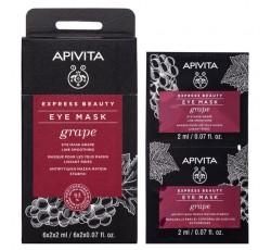 Apivita Express Beauty Máscara Olhos Antirrugas De Uva 2X2mL