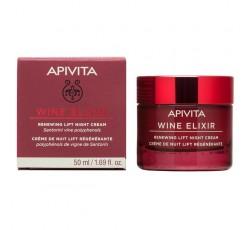 Apivita Wine Elixir Creme De Noite Renovador Com Efeito Lifting 50mL