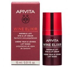 Apivita Wine Elixir Creme De Olhos & Lábios Antirrugas Com Efeito Lifting 15mL