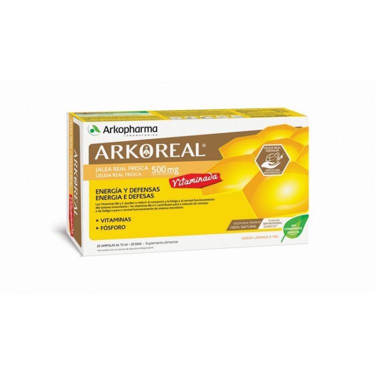 Arkoreal Geleia Real 500Mg Vit Ampx20 Amp Beb