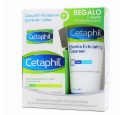 Cetaphil Creme Facial Hidratante Noite 48mL Com Oferta De Esfoliante Suave 178mL