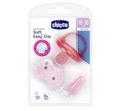 Chicco Chupeta Phisio Soft Ortodôntica Menina Clip 16-36M