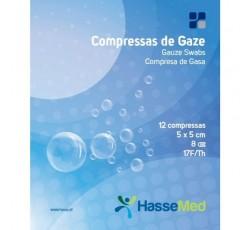 Compressa Hassemed Gaze 8C 5X5Cm X12