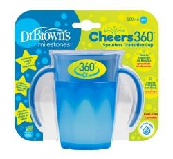 Dr. Browns Vaso 360 S/Boquilha Azul C/Asas 200mL 192458.2