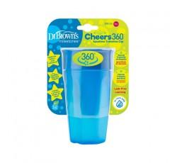 Dr. Browns Vaso 360 S/Boquilha Azul S/Asas 300mL 192456.8