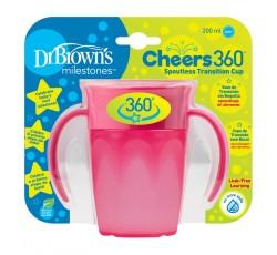 Dr. Browns Vaso 360 S/Boquilha Rosa C/Asas 200mL 192457.5