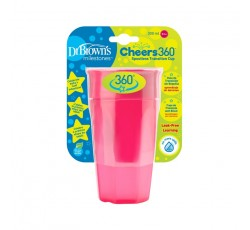 Dr. Browns Vaso 360 S/Boquilha Rosa S/Asas 300mL
