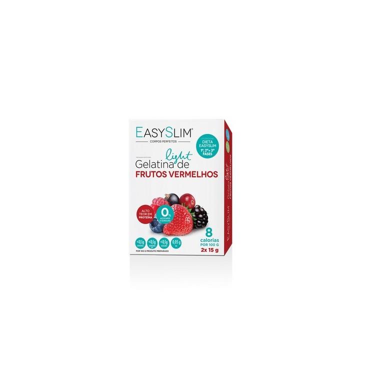 Easyslim Gelatina Light Frutos Vermelhos Saq 15Gx2