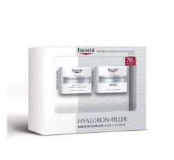 Eucerin Hyaluron-Filler Creme Noite 50mL+Cr Dia P/Seca Spf15 50mL Desc 70% 2ª Embal