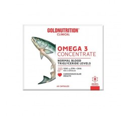 Gold Nutrition Omega 3 Concentrate Caps X 60
