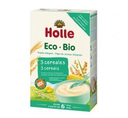 Holle Bio Papa 3 Cereais Integrais 6M 250G