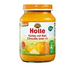 Holle Bio Pure Abobora Arroz 4M 190G