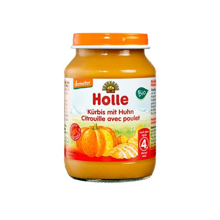 Holle Bio Pure Abobora+Frango 190G