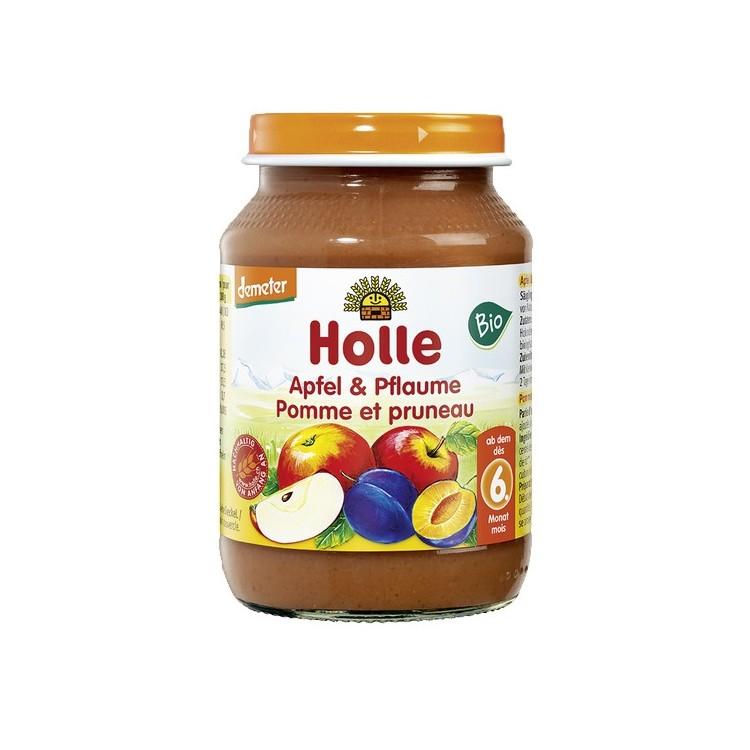 Holle Bio Pure Maça Ameixa 6M 190G