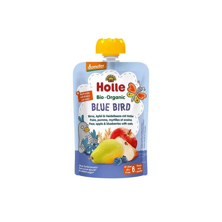 Holle Bio Pure Saq Blue Bird Pera+Mac+Mirt+Ave 6M 100Gr