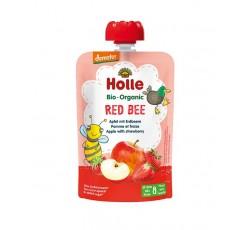 Holle Bio Pure Saq Red Bee Maça Morango 8M 100G