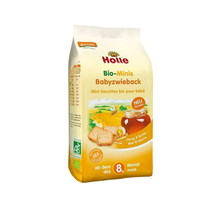 Holle Bio Tostas Mini Mel+Manteiga 8M 100G
