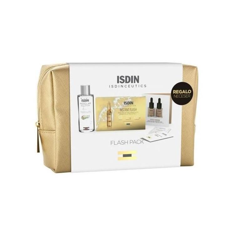 Isdinceutics Flash Mon 5X2mL+Skin Drops Flui 2 Un+Sol Mic 30mL+Ofrt Bolsa