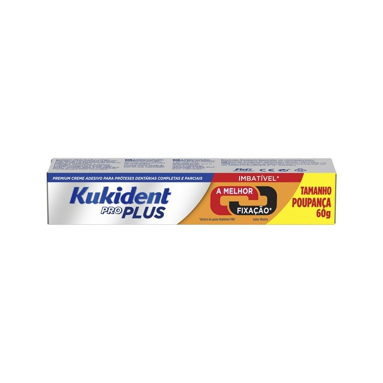 Kukident Pro Plus Cr Dupla Accao Protes 60G