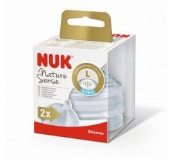 Nuk Nature Sense Tet Sil T2 6-18M L X2