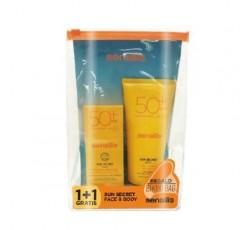 Sensilis Sun Secret U/Light Water Fluid Emul Rosto Spf50+40mL Of Gel-Cr Corpo Spf50+200mL+Bolsa