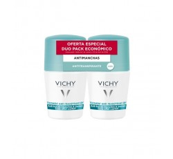 Vichy Desodorizante Cuidado Antitranspirante 48H Antimanchas Brancas E Amarelas Duo