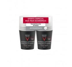 Vichy Homme Desodorizante Antitranspirante Roll-On Controlo Extremo 72H Duo