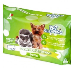 Toalhetes Humidos - Pet Cleaning - Exotic 40 unidades