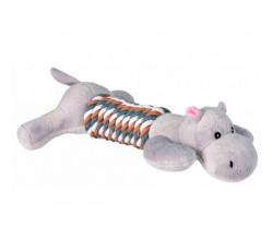 Peluche Hipopotamo com Tronco em Corda