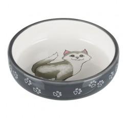 Comedouro Ceramica Gato
