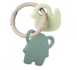Nattou Roca Silicone Elefante+Pato-Aro Cinza