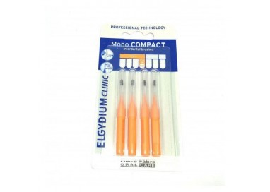Elgydium Clinic Escovilhão Compact Mono Laranja Pack 4x