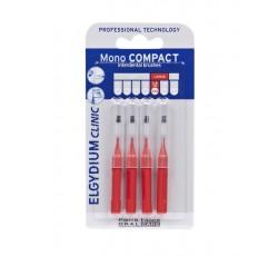 Elgydium Clinic Escovilhão Compact Mono Vermelho Pack 4x