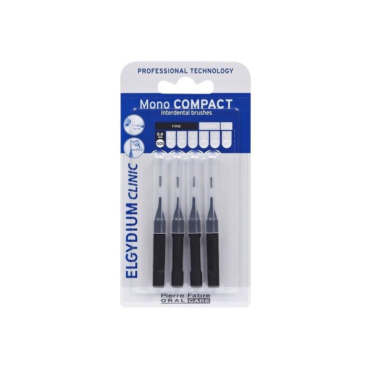 Elgydium Clinic Escovilhão Compact Mono Preto Pack 4x