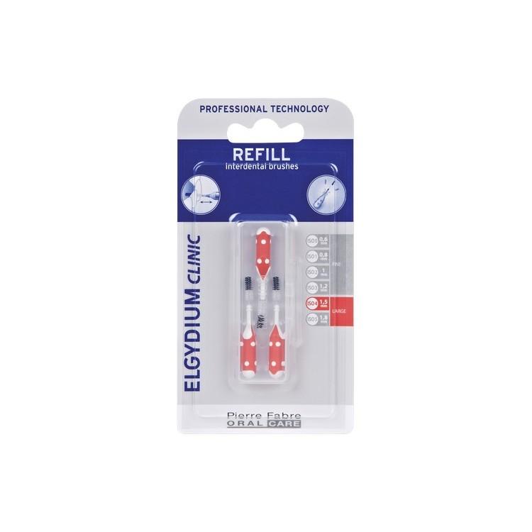 Elgydium Clinic Escovilhão Recarga Vermelho Pack 3x