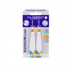 Elgydium Clinic Escovilhão Trio Compact Espaços Estreitos Mistos 2 Unidades