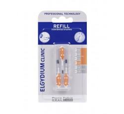 Elgydium Clinic Recarga Escovilhão Flex Laranja Pack 3x