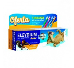 Elgydium Kids Gel Dentífrico Tutti-Frutti 50 mL Idade do Gelo Oferta Escova